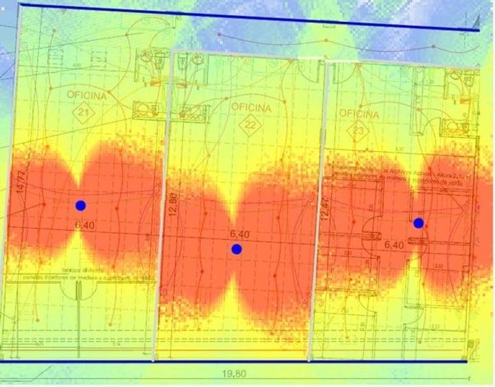 mapa de calor de las redes inalambricas